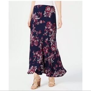 New NY Collection Printed Pull On maxi skirt PM